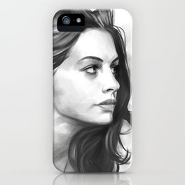 Anne Hathaway minimalist illustration iPhone Case