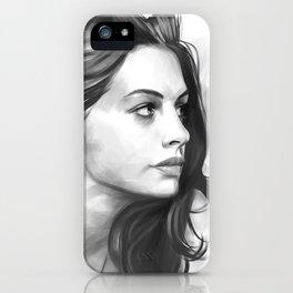 Anne Hathaway minimalist illustration iPhone Case