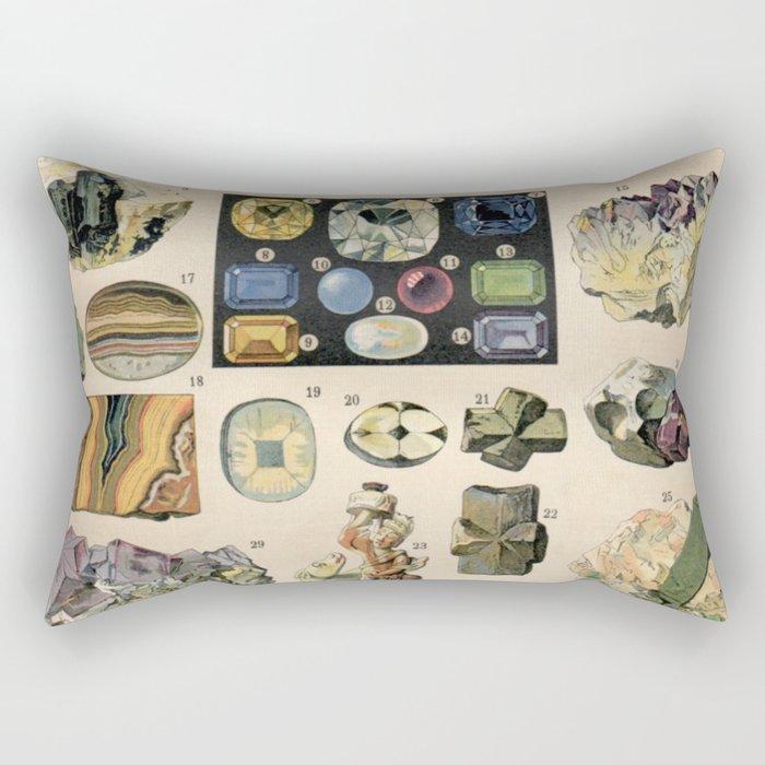 ANTIQUE MINERALS, 1897 Rectangular Pillow