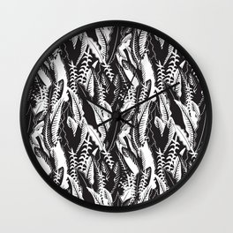 Inner Jungle in Black and White Wall Clock