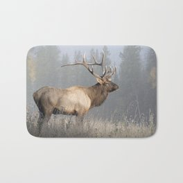 Bull Elk One Bath Mat