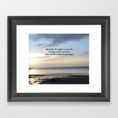 Nature Photo Laughter Quote by Kat Worth Framed Art Print