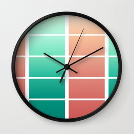 Minty Peaches Wall Clock