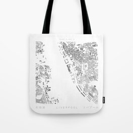 Liverpool Figure Ground Tote Bag