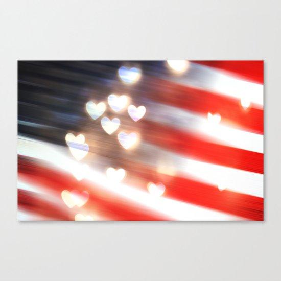A Love as Big as America Canvas Print