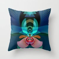 orchid Throw Pillows featuring Orchid by GypsYonic