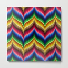 Bargello Quilt Pattern Impression 1 Metal Print