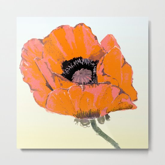 And they call it  Poppy  Love Metal Print