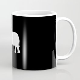 Elephant Heart Silhouette Coffee Mug