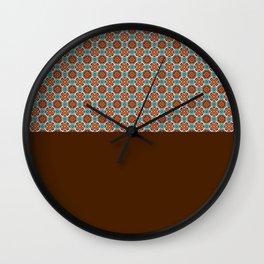 Maroon Pattern Wall Clock