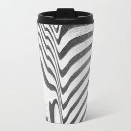 Distorted waves Metal Travel Mug