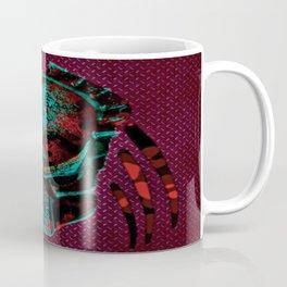 Soldier Predator Red Teal Coffee Mug