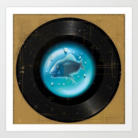 Fish Pop (Vinyl Aquarium) Art Print