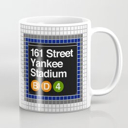 subway yankee stadium sign Coffee Mug