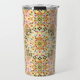 Pink Carousel Mandalas Travel Mug