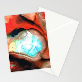 Red Abstract Modern Art - Cocoon - Sharon Cummings Stationery Cards