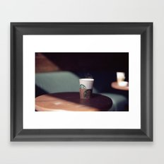 Hot Starbucks Coffee Cup Framed Art Print