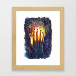 Hand study #4. Touch the stars Framed Art Print