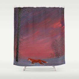 Twilight Fox Shower Curtain