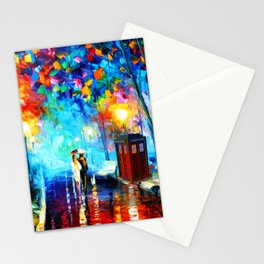 starry night in the painting Stationery Cards