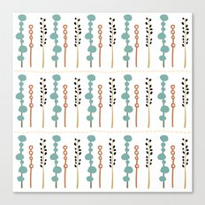 Seamless whimsical flower background Canvas Print