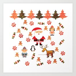 Santa's Christmas Helpers Art Print