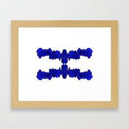 Blue Ink Drop in Water Framed Art Print