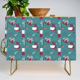 Retro Kitchen - Teal and Raspberry Credenza