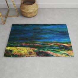 1912 Classical Masterpiece Stormy Sea Herbstmeer XIX by Emil Nolde Rug