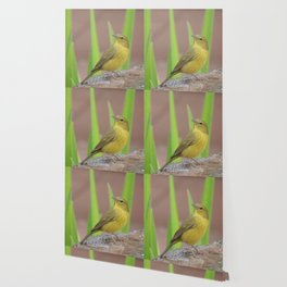 Yellow Warbler at the Fountain Wallpaper