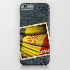 Grunge sticker of Andorra flag iPhone 6s Slim Case
