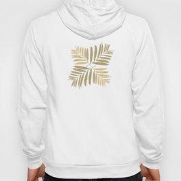 Geometric gold white leaves pattern tan metal bright leaf tropical , society6 Hoody