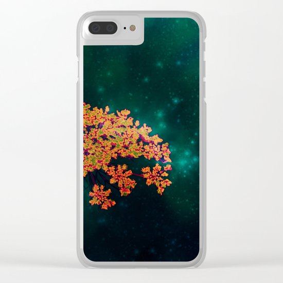 The flower in the Night Clear iPhone Case