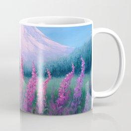 Fireweed Phenomenon on Mount Rainier Coffee Mug