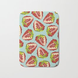 Strawberry Pattern Bath Mat