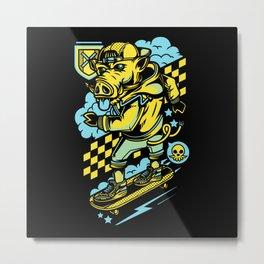 Skateboard Skateboarding Motif Metal Print