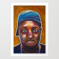 j dilla Art Prints featuring 4 Dilla by Trey S Wilson