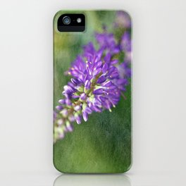 Purple Hebe Macro iPhone Case