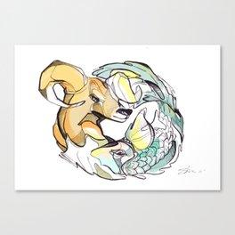 astro animals Canvas Print