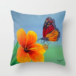 Lily with Butterfly Throw Pillow