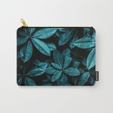 TEAL LEAVES Carry-All Pouch