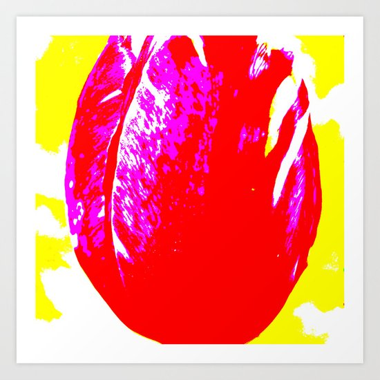 tulip red Art Print