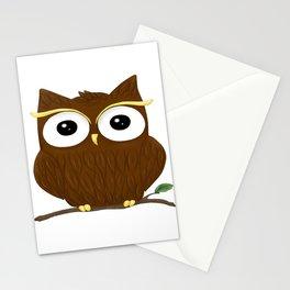 Animal owl graphic bird cute Stationery Cards