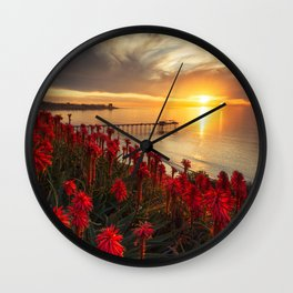 Pictures USA Arizona Cliff Nature canyons Sky Snow Wall Clock
