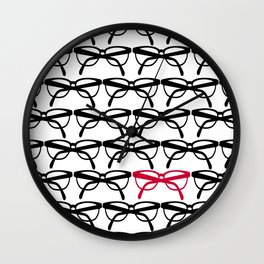Optometrist Eye Glasses Black Pattern Print Wall Clock