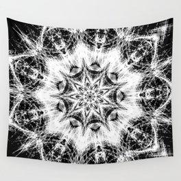 Atomic Black Center Swirl Mandala Wall Tapestry
