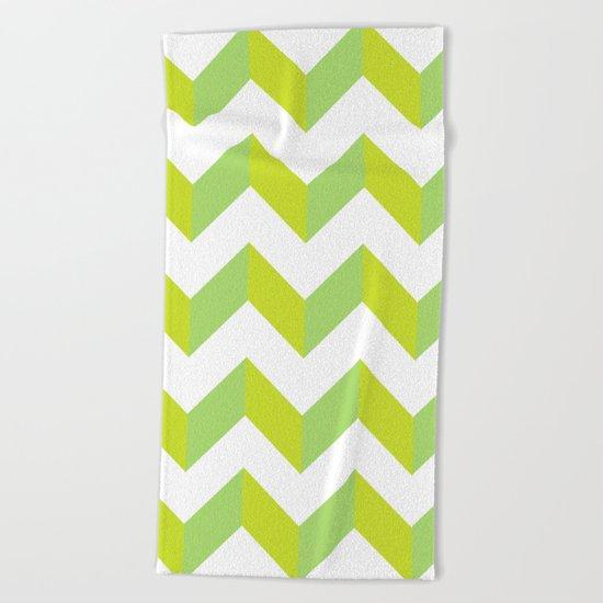 green pattern geometric Beach Towel