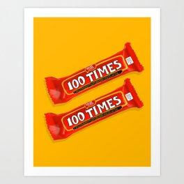 100 Times Art Print