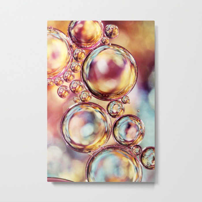 Bokeh Sparkles Bubble Abstract Metal Print