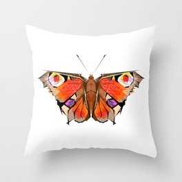 Geobutterfly Throw Pillow